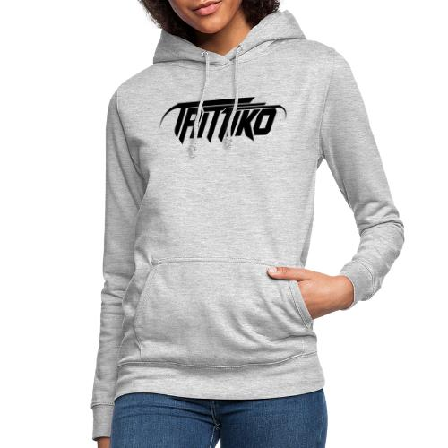 Trittiko Logo Schwarz - Frauen Hoodie