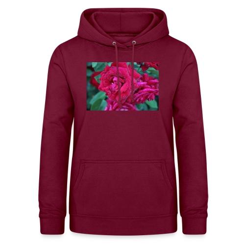 Rosa preciosa - Sudadera con capucha para mujer