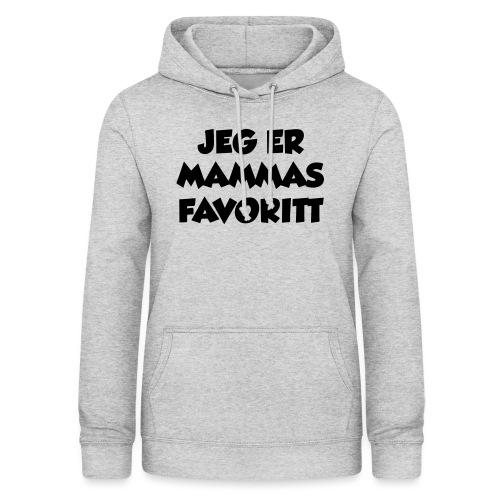 «Jeg er mammas favoritt» (fra Det norske plagg) - Hettegenser for kvinner