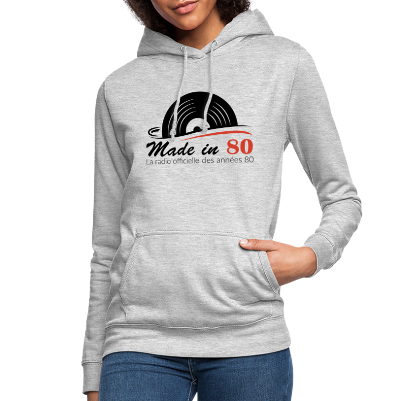 Made in 80 - Sweat à capuche Femme