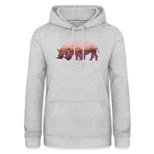 Nashorn Alpen - Frauen Hoodie