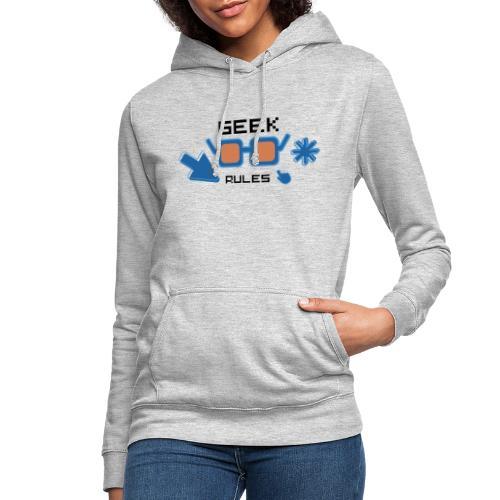 geek rules - Sudadera con capucha para mujer