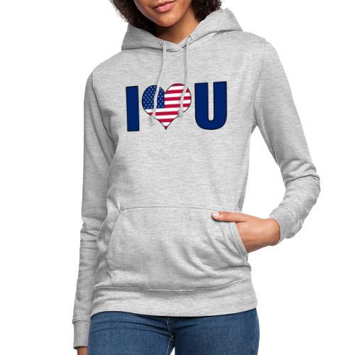 I love u USA - Women's Hoodie
