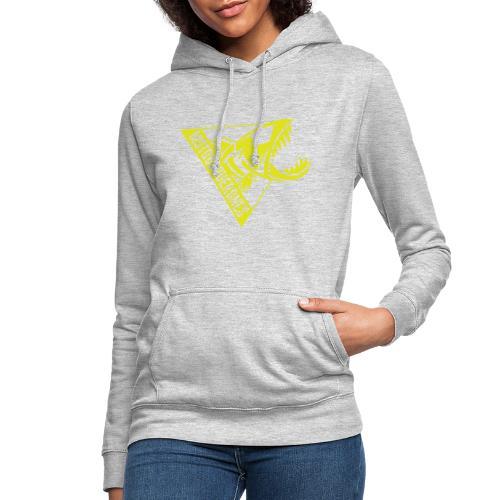 Logo Motoboquerones amarillo - Sudadera con capucha para mujer