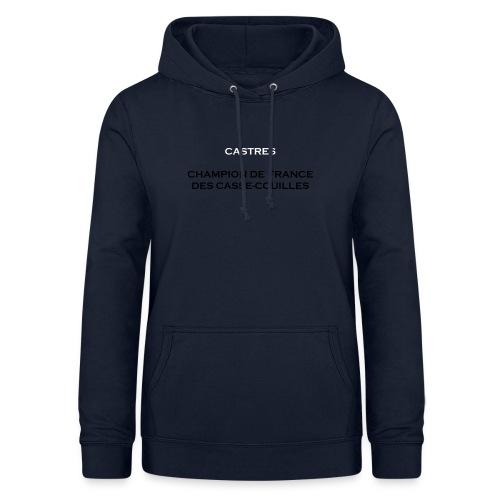 design castres - Sweat à capuche Femme
