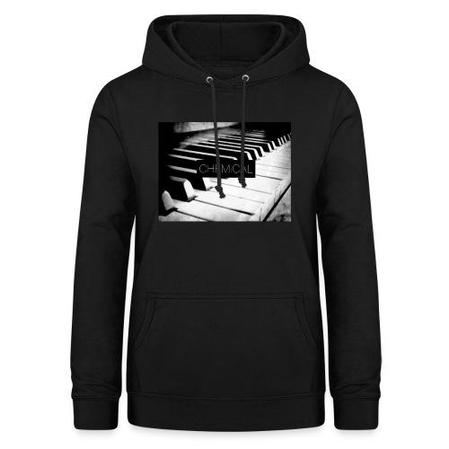 Piano black&White - Felpa con cappuccio da donna