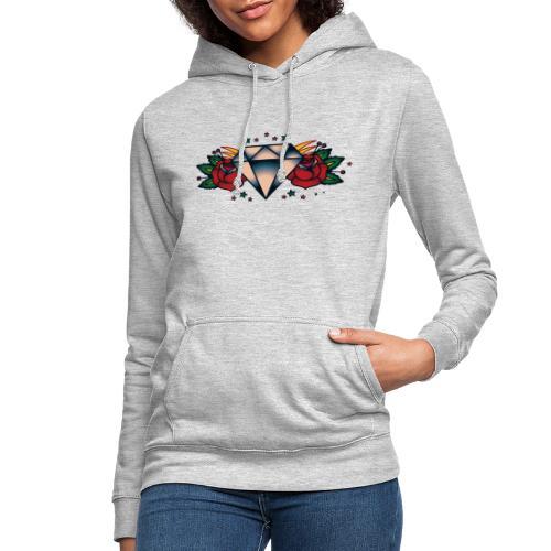 Old School Rose - Sudadera con capucha para mujer