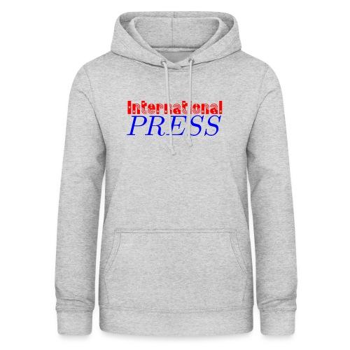 int_press-png - Felpa con cappuccio da donna