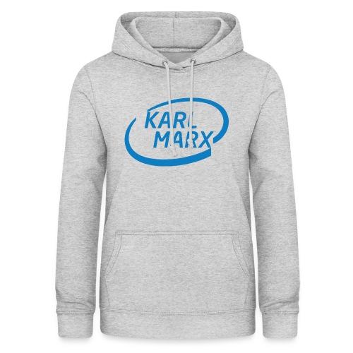Karl Marx X Intel - Felpa con cappuccio da donna
