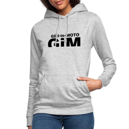 GiM nero - Felpa con cappuccio da donna