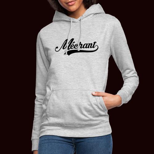 mechant_logo - Sweat à capuche Femme