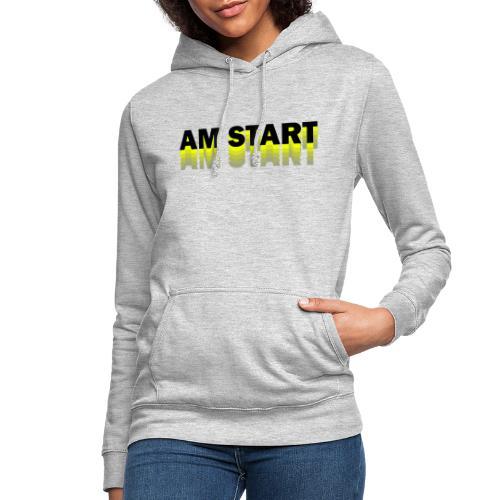 am Start - gelb schwarz faded - Frauen Hoodie