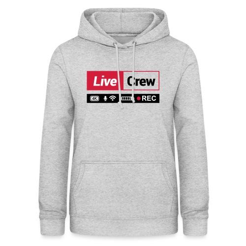 Live crew - Felpa con cappuccio da donna