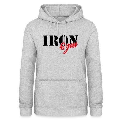 iron gym logo black - Sudadera con capucha para mujer