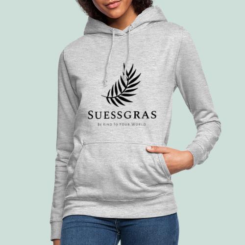 SUESSGRAS BLACK LEAF - Frauen Hoodie