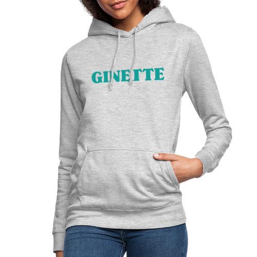 Ginette solo indigo - Sweat à capuche Femme