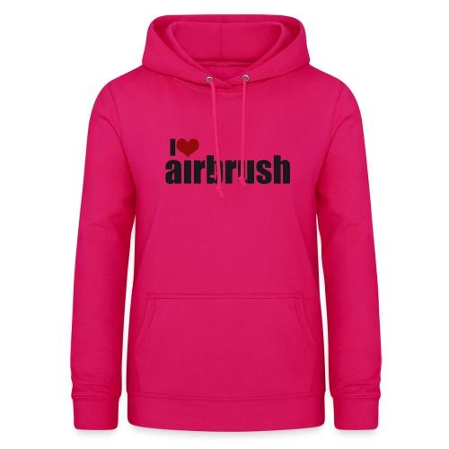 I Love airbrush - Frauen Hoodie