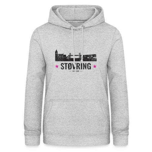 Støvring City Black Magenta - Dame hoodie