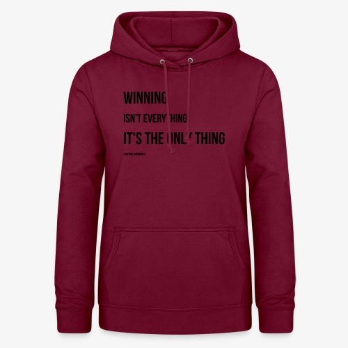 Football Victory Quotation - Women's Hoodie