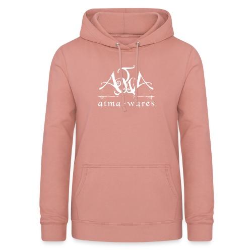 atma wares logo white - Vrouwen hoodie