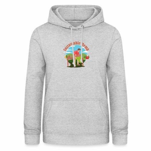 Cáñamo Sustentable en Inglés (Sustainable Hemp) - Sudadera con capucha para mujer