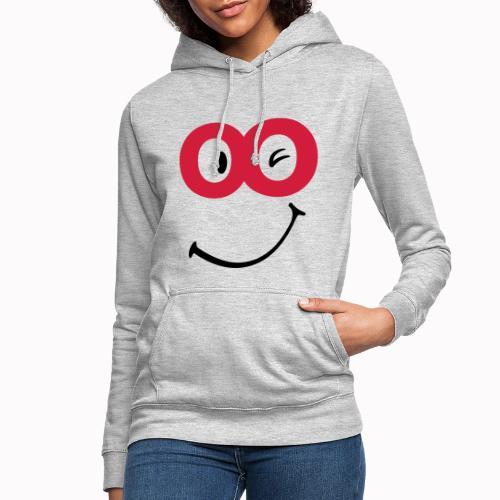 sorriso - Felpa con cappuccio da donna