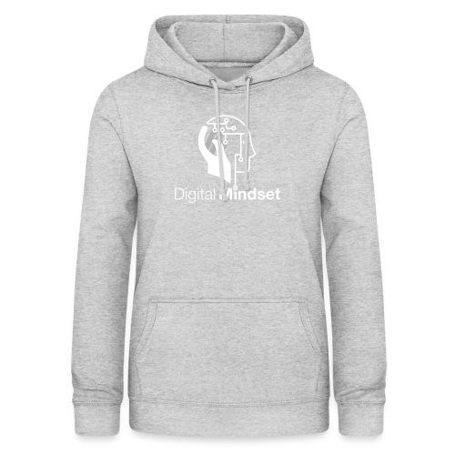 Digital Mindset Logo Weiß - Frauen Hoodie