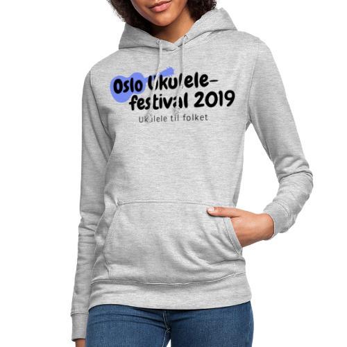 Oslo Ukulelefestival 2019 i svart - Hettegenser for kvinner