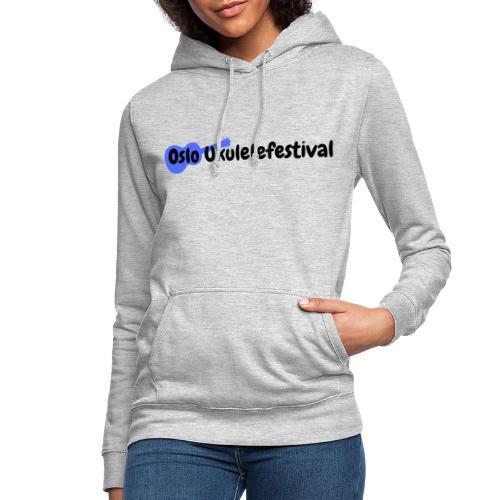 Oslo Ukulelefestival blå logo - Hettegenser for kvinner