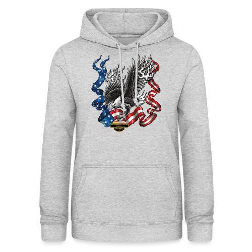 american eagle schrift gross - Frauen Hoodie