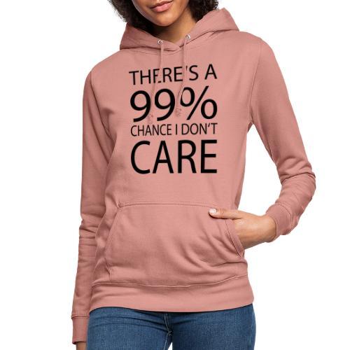 Ist mir egal lustiges Design Sarkasmus - Frauen Hoodie