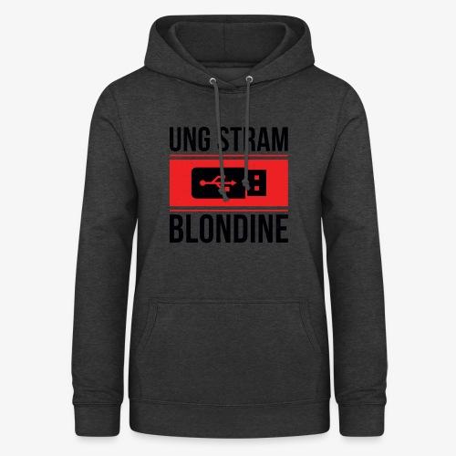 Ung Stram Blondine - Sort - Dame hoodie
