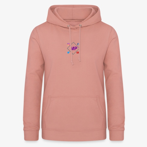 MP logo with social media icons - Women's Hoodie
