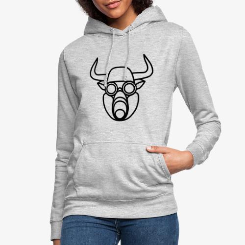 Stier mit Gasmaske - Frauen Hoodie