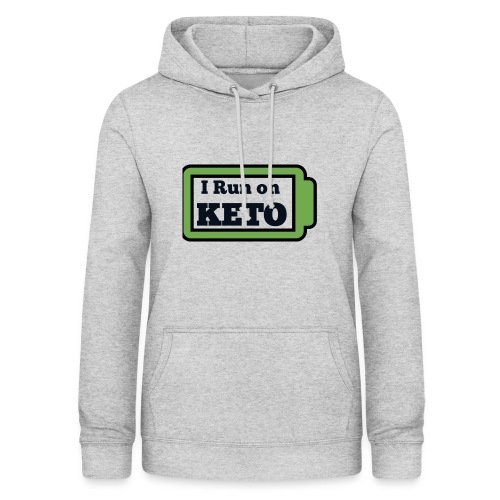 I run on KETO - Vrouwen hoodie
