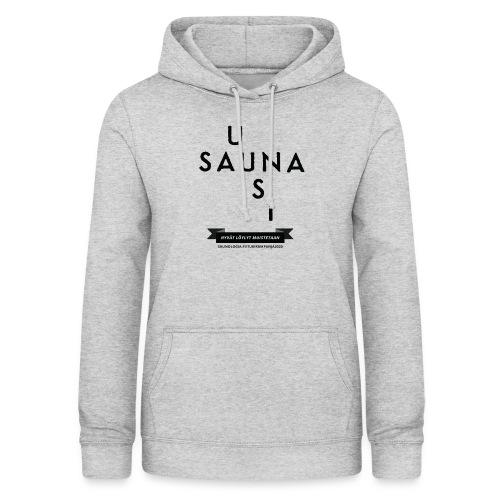 Uusi Sauna - Valkea - Naisten huppari