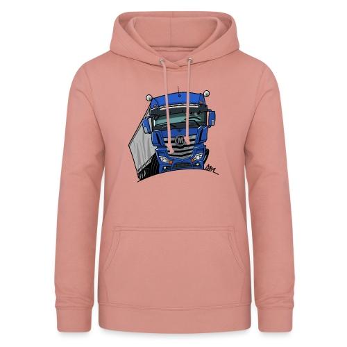 0807 M truck blauw trailer - Vrouwen hoodie