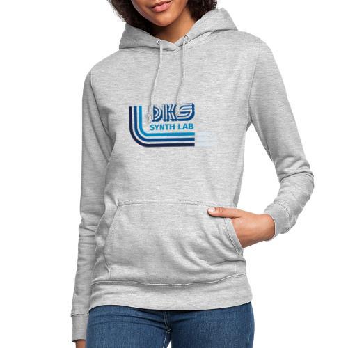 DKS SYNTH LAB curved Blu - Felpa con cappuccio da donna