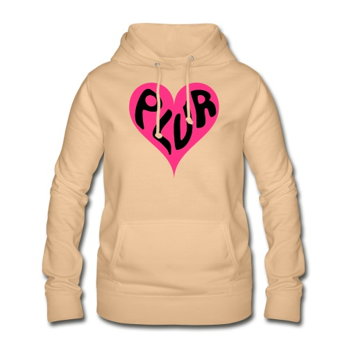 PLUR - Peace Love Unity and Respect love heart - Women's Hoodie