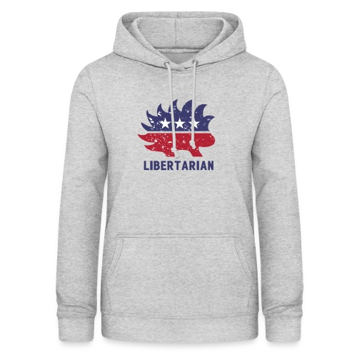 Libertarian porcupine - Bluza damska z kapturem