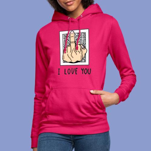 I LOVE YOU - Felpa con cappuccio da donna