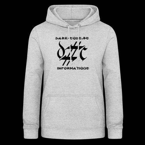Dark-Code Black Gothic Logo - Sweat à capuche Femme