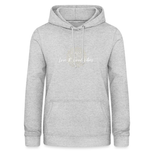 I am love and good vibes white gold - Frauen Hoodie