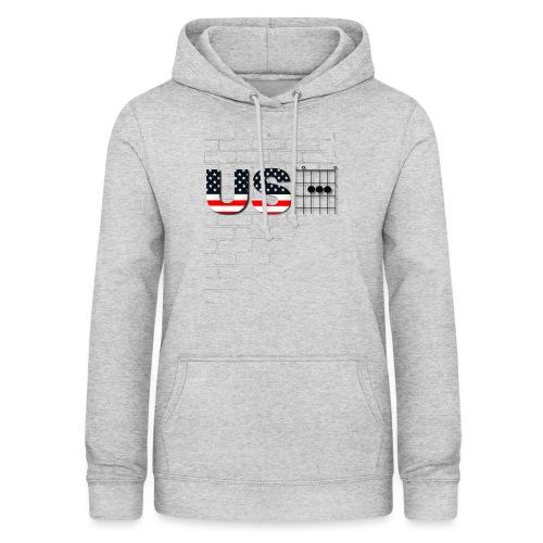 USA American Flag in Chords - Women's Hoodie