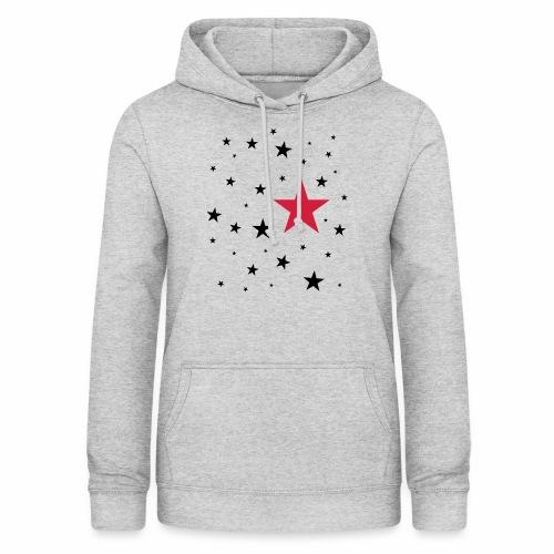 Sterne zweifarbig - Frauen Hoodie