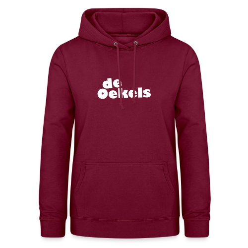 DeOekels t-shirt Logo wit - Vrouwen hoodie