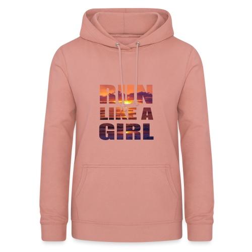 run like a girl @RUNNINGFORCE - Frauen Hoodie