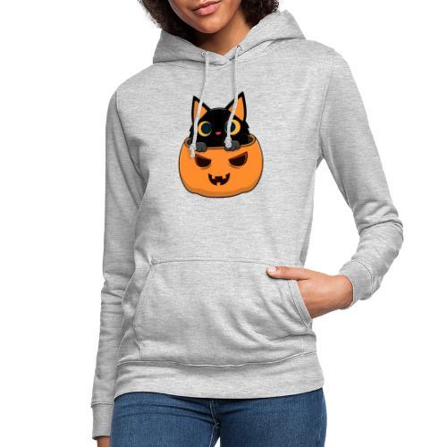 Halloween Katze Kürbis - Frauen Hoodie