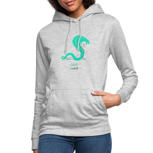 yoga t shirt design maker featuring a meditating w - Dame hoodie