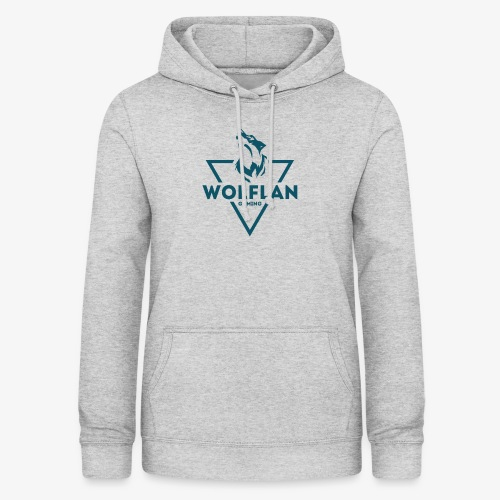 WolfLAN Logo Gray/Blue - Women's Hoodie